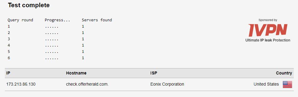 IPVanish-DNS-Test