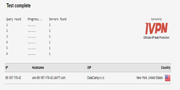 NordVPN-DNS-Leak-Test