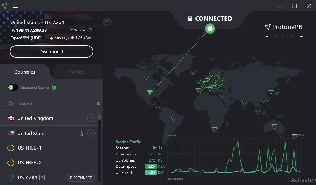 ProtonVPN-Interface