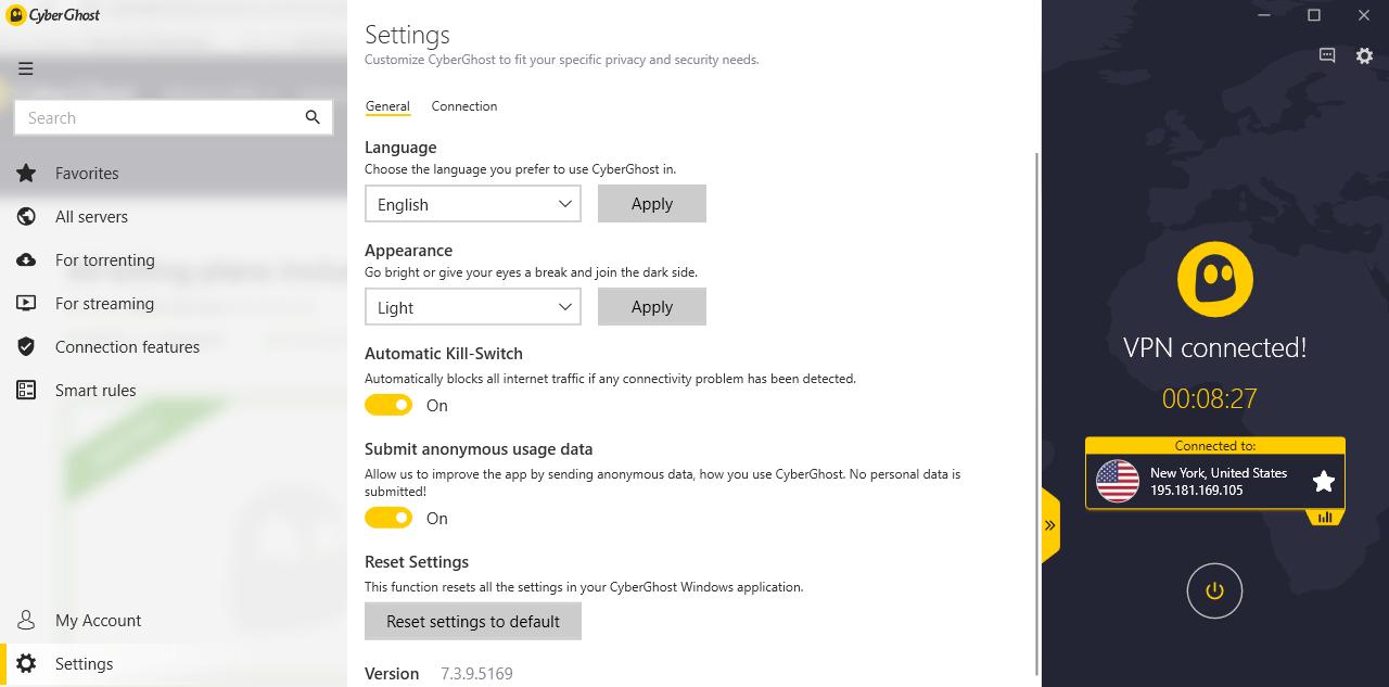 cyberghost-settings-interface